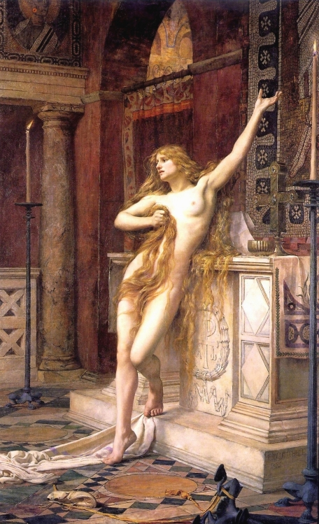 Hypatia, Charles William Mitchell, 1885, Laing Art Gallery (Newcastle-upon-Tyne).